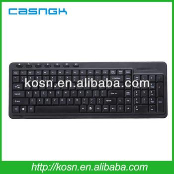 black standard multimedia keyboard for desktop