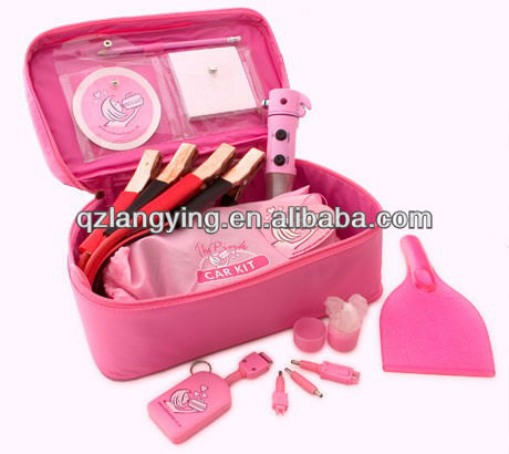 Car emergency kit for girls