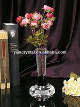 cheap glass vase/clear art glass vase/elegant crystal glass vase