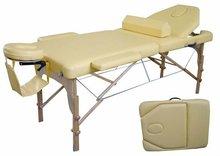 folding 3 section wooden massage table,camilla plegable masaje