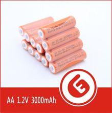 Orange Color 3000mAh 1.5v aa ni-mh rechargeable battery OEM