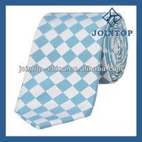 blue and aqua check tie