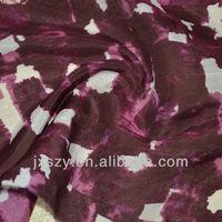 printed silk cotton chiffon
