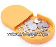 Colorful Cheap fashion Small Silicon Coin Bag
