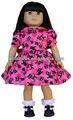 Halloween 18 pulgadas american girl vestido de la muñeca, capa de muñeca y la ropa