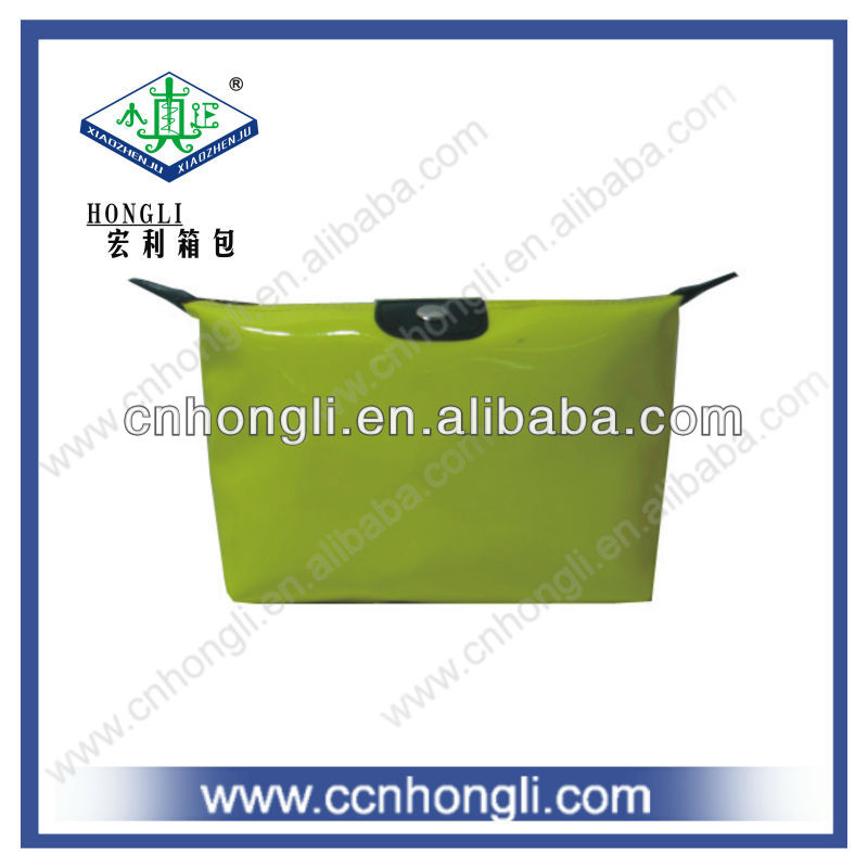 with fluorescence color PU cosmetic bag