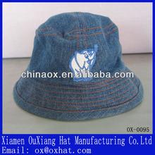 Applique cotton cowboy children bucket cap