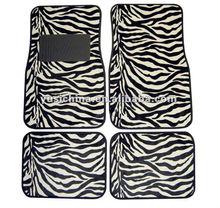Universal fitting PVC Car Carpet Black And White Animal Priting Car Mat
