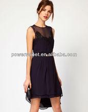 sexy fashion girls lace swallow tailed dresses,guangzhou garment factory