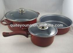 FDA standard 5pcs cookware set with S/S handle