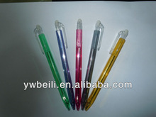 plastic side retractable erasable ball pen for office&student
