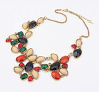Indian Style Choker necklaces, Vintage Collars with shinning tassels colorful beads