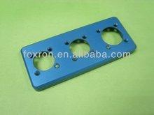 Precision CNC metal parts with blue anodized