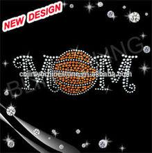 Bling basketball love basketball iron on transfer designs