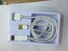 1.8m HDMI cable for ipad2 3 with USB charger