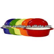 cast iron color enamel cookware