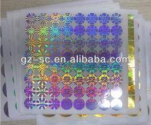 Custom Anti-fake Hologram, Laser Hologram Sticker Label, Free Shipping by DHL