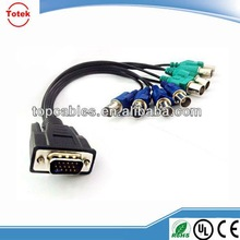 factory direct wholesale VGA to BNC adapter monistor/video cable