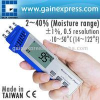Digital 2-in-1 Pen-type Paper Moisture Spring Type Sensor Meter tester 2% ~ 40% Range Made in Taiwan