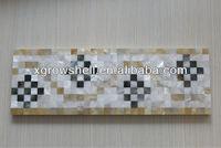 natural shell mosaic tile border,bathroom border tile