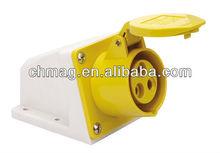 waterproof industrial sockets (2p+e, IP44, 32A, 110V) 123-4 IECCEE good cheap best plug 16A 63A 125A