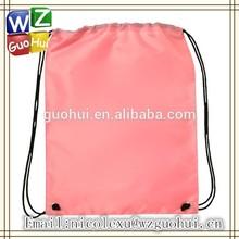 Pink recycle nylon drawstring string bags