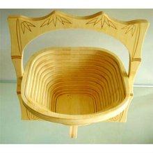 Promotional gift natural color animal shape folding bamboo furit basket