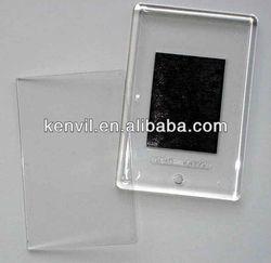 good price clear blank acrylic fridge magnet