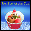 wholesale ice cream paper cup/8oz bowl type single wall paper cup/hot food container