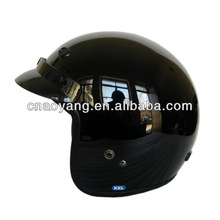 Shining Black DOT Approved Open Face Helmet