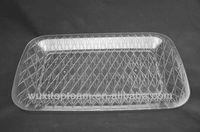 """16.5""""x10.5"""" clear Diamond Cut Plastic Tray"""