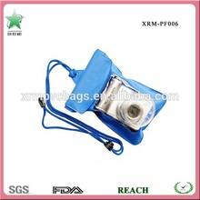 Blue waterproof pvc camera bag