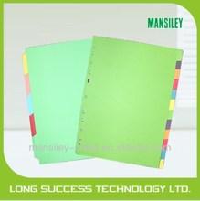 A4 folder tab dividers/custom print index cards