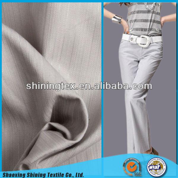 ladies' fashion cotton pants twill fabric