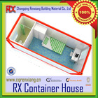 Steel structure low cost log container living room