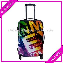 Business Airport Printing Beauty Plastic Pilot Trolley Travel Bag Set