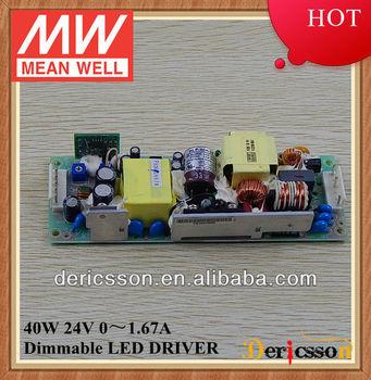 MEANWELL 40W 24V LED Driver HLP-40H-24 PFC Function