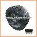 Reboque pneus tamanhos, 16*5- 9 pneus de borracha sólida para reboque em porto