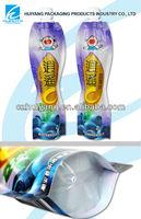 Safety Food Grade food plastic snack packet bag for juice packaging