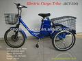 Triciclo eléctrico para carga con nuestro motor de rueda inteligente