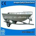 sanj utilizado alumínio de barco de pesca para venda