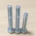 zinc din933 plateado perno de cabeza hexagonal
