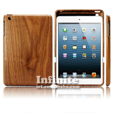 Wood&bamboo case for ipad mini wood case for ipad smart