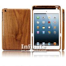 Wood&bamboo case for ipad mini wood case for ipad smart