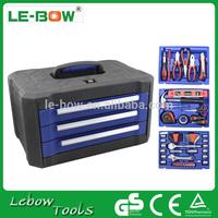 Promotional aluminium case LB-457-99pcs hand tool set / master hand tool