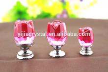 30MM pink rose kitchen crystal furniture knobs