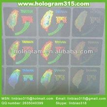 Laser 3d transparent sticker sheet