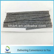 Decorative Rhinestone Fabric Trimming In Black