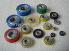 Urethane covered bearings, Good adhesion and wear resistance