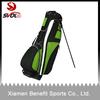 Green golf bag stand